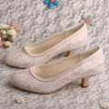 Nude Satin Wedding Shoes for Bride and Bridesmaids