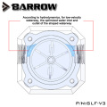 """Barrow G1/4"""" Water Cooling System Electronic Flow Sensor Indicator Access Motherboard To Read Data Flower ,SLF-V3"""