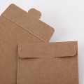 Small kraft paper envelope with silver logo