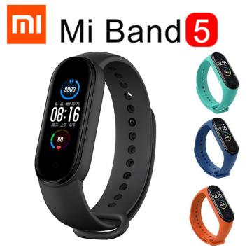 Xiaomi Mi Band 5 Smart Bracelet AMOLED Miband 5 Smartband Fitness Traker Bluetooth Sport Waterproof Wristband