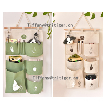 Factory Over the Door sundries Organizer green color Hanging pocket organizer