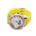 New Arrival Girls Flower Gold Silicone Strap Watches