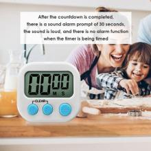 Mini LCD Digital Display Kitchen Timer Square Kitchen Countdown Alarm Magnet Clock for Cooking Baking Sport Game Kitchen Timers
