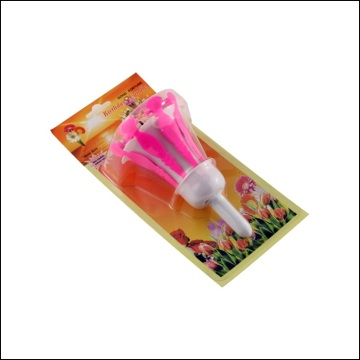 Morning glory shape flower music birthday candles