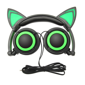 Character blinking headphone kids headband headphones