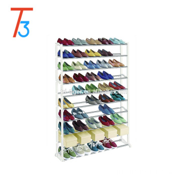 50 Pair 10 Tier cheap stackable shoe rack