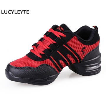 Dance Shoes Sports Feature Soft Outsole Breath Sneakers for Woman Practice Shoes Modern Jazz Shoes Sneakers Zapatos De Mujer