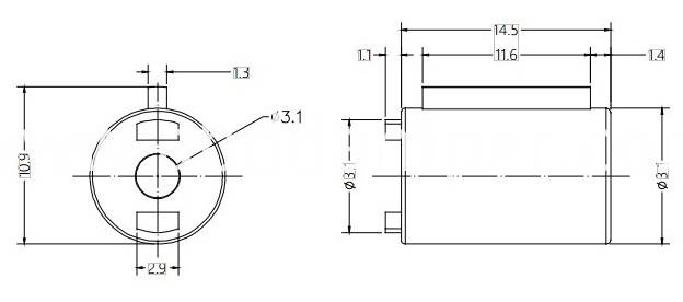 Barrel Damper Drawing For Small Cover Plate
