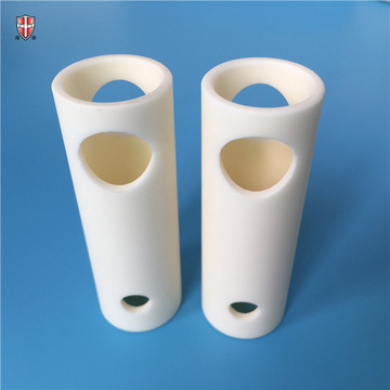 customized 99 alumina beige ceramic bushing sleeves