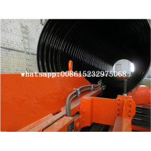 High quality ribbed corrugated pipe machine