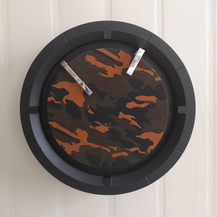 Wall Clock Camouflage Face