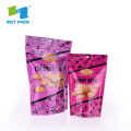 Aluminum Laminated standing plasyic Candy Bag Food Packaging