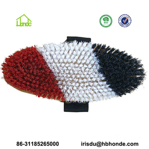 Wooden Back Horse Body Brush with PP Bristle