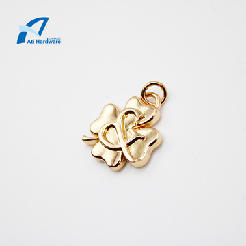 Nice Four-Leaf Clover Shape Pendant Metal Bag Decorative