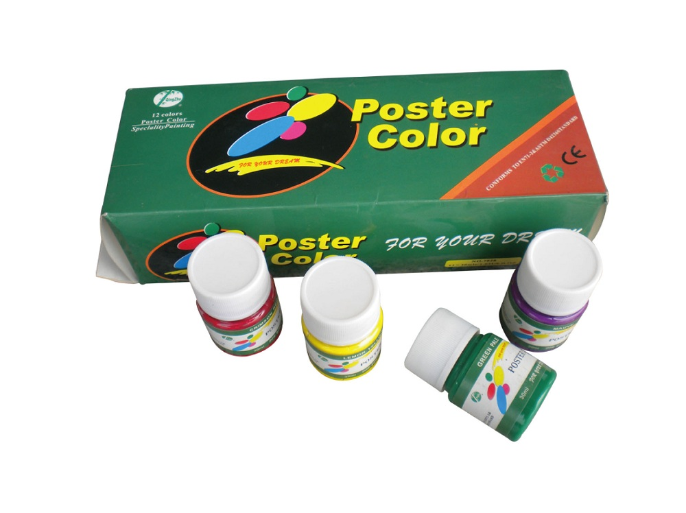 12 color 30ml Poster color