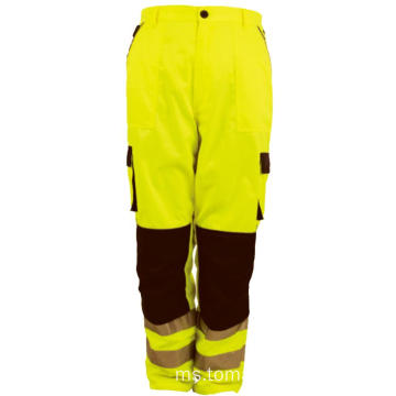 Hi Vis Work Pants Cargo Mens Reflective