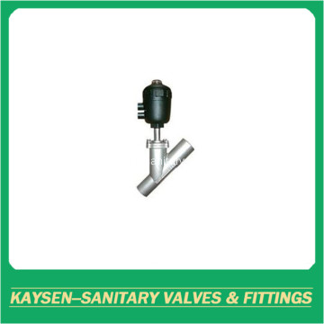 DIN Food grade welded angle seat valves