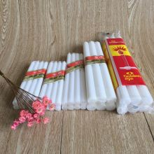 White Plain Paraffin Wax Candles for Dubai