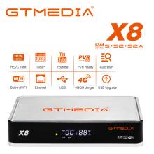 New GTmedia X8 DVB-S/S2/S2X Satellite TV Receiver Bulti in wifiSupport Europe T2MI ACM VCM Satellite Receptor Decoder