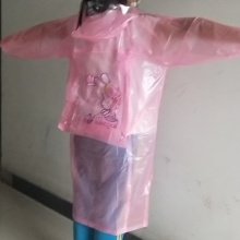 Transparent Pvc Raincoat for girl, Cartoon Raincoat , Student Rain Coat
