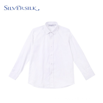 Breathable Herringbone White TC Long Sleeve Wedding Shirts