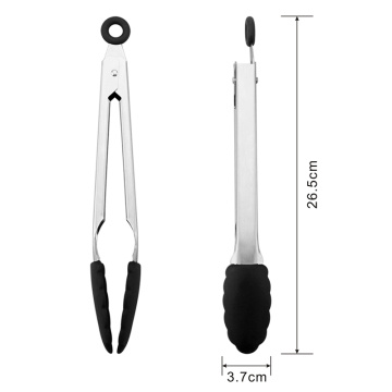 Heavy Duty Stianless Steel Handle Silicone Serving Tongs