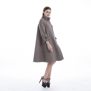 New styles High collar cashmere winter coat