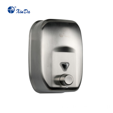 Large brushed soap dispenser with nozzle