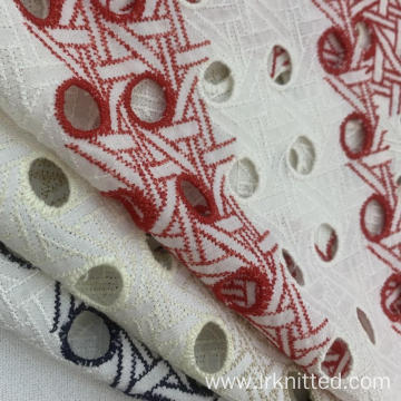Hot Sell 100% Cotton Embroidered Fabric