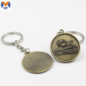 Metal Custom Antique Silver Bronze Keychain