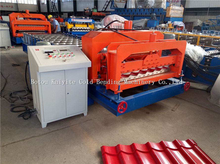 CNC Metal Roofing Step Tile Roll Forming Machine