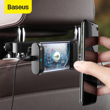 Baseus Backseat Car Phone Holder 15W Wireless Charging Support For 4.7-6.5 Inch Mobilephones 360° Rotation Auto Back Seat Stand