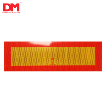 Rear Marking Plates For Long Heavy Vehicles