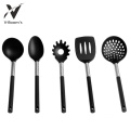 5PC Black PP Handle Nylon Kitchen Cooking Set