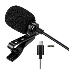 Mini Type C/3.5mm Clip-on Lapel Lavalier Microphone Condenser for Phone Hands-Free Wired Microphones Mic for Camera Computer