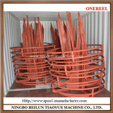 Steel wire vertical coiler