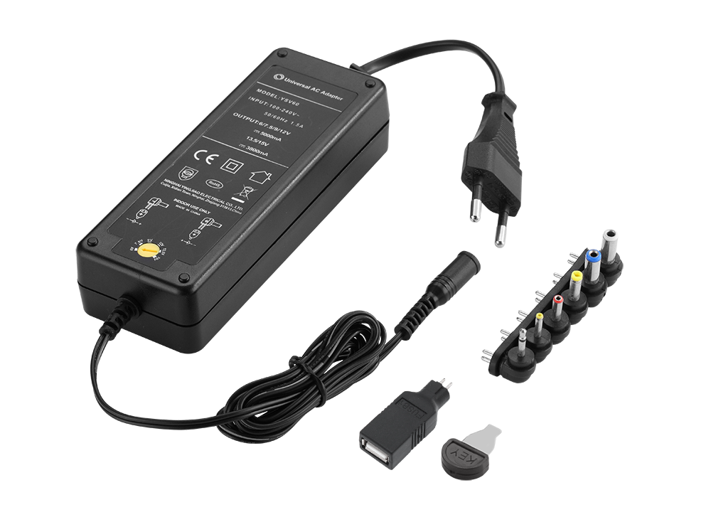 Universal 60W 12V 24V DC Multi Power Adapter