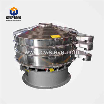 Fully enclosed vibrating sifter for chemical