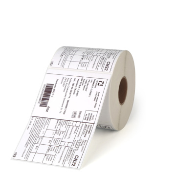Custom coated paper self adhesive shipping label