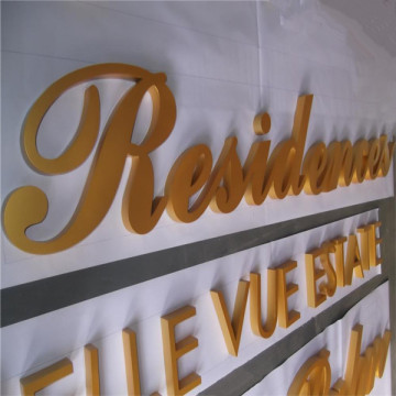 Flat Cut Painted Aluminum Letter Signs