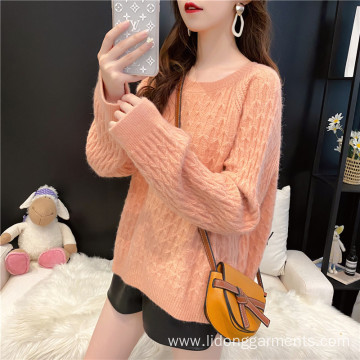 Women's sweater loose wear lazy wind autumn winter Pullover Sweater student top fashion