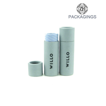 OEM white cardboard tube package for perfume
