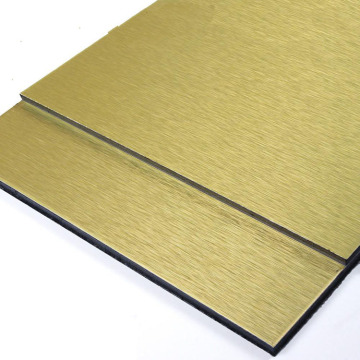 Brushed Color ACP Finish Aluminum Composite Panel
