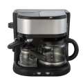 Italian espresso drip coffee maker 2IN1 for home