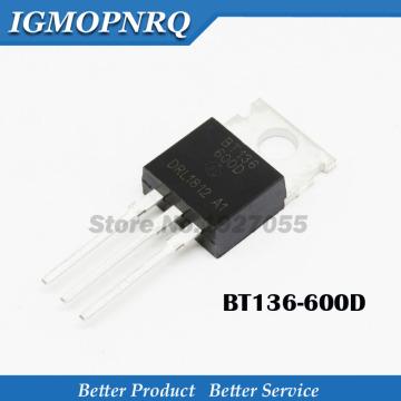 10pcs BT136-600D BT136 600D TO-220 Thyristor three-terminal two-way thyristor switch 600 v 4 a new