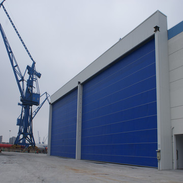 Oversize high speed flexible door