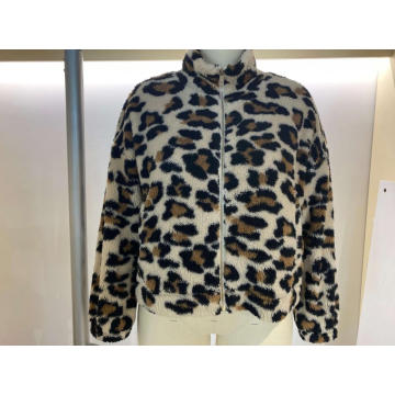 Women Print Sherpa Outer Wear