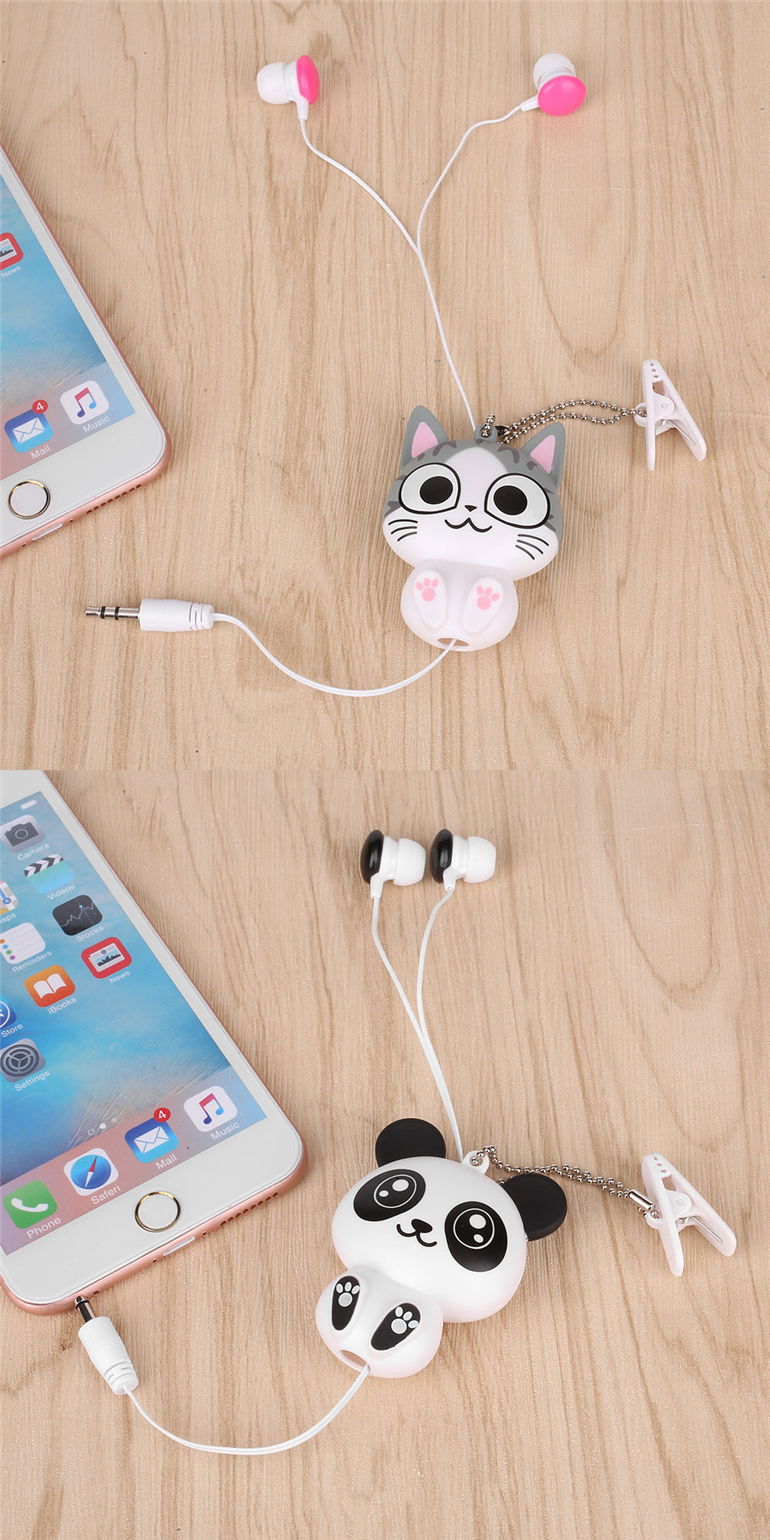 retractable earphones cat