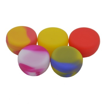 10pcs Functional 5.6ml silicone jars dab wax container dry herb wax silicone weed jar wax bho vaporizer oil containers
