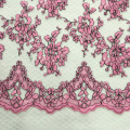 Fashion Flower Pattern Embroidery On Lace Ground